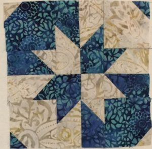"2 color block example from ""Adding Depth to a Quilt Using Contrast"""