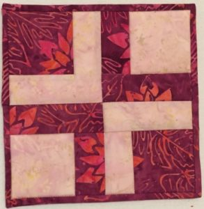 "2 color block example 2 from ""Adding Depth to a Quilt Using Contrast"""