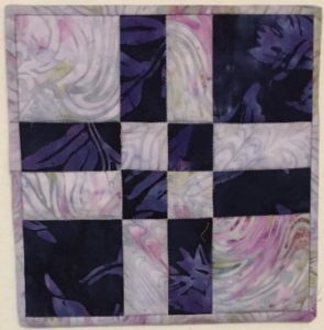 "2 color quilt block from ""Adding Depth to a Quilt Using Contrast"""