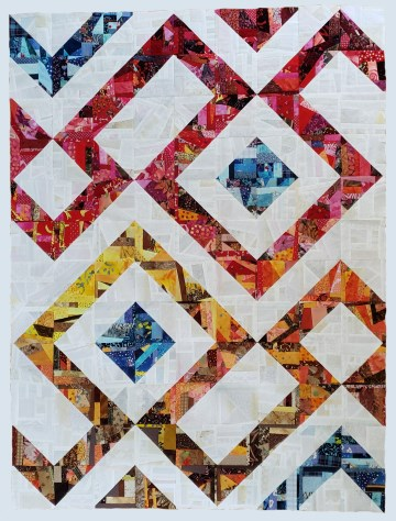 "From the article ""Crumbs to Quilts"". Made entirely with crumb blocks."