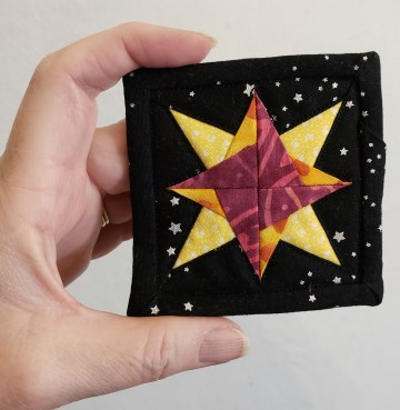 Miniature Star quilt from my article on making quilts from tiny scraps