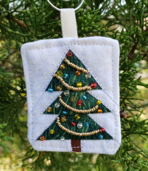 micro mini quilt ornament