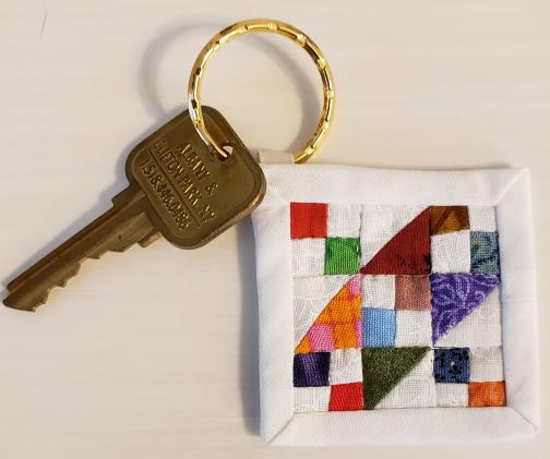 mini mini quilt key fob