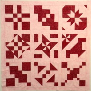Disappearing Block Sampler Quilt in Red