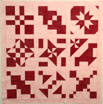 Disappearing Block Sampler Quilt Red